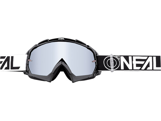ONeal B-10 Goggle TWOFACE black/white-mirror silver